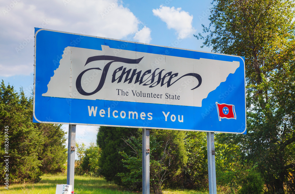 Fototapeta Tennessee welcomes you sign