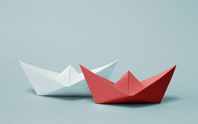 Two Paper Boats Competing