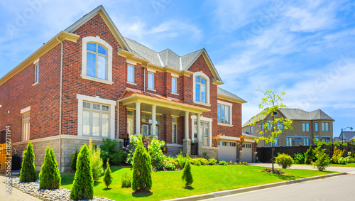 Custom built luxury house in the suburbs of Toronto, Canada. Wallpaper Mural