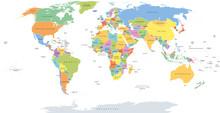 World Single States Political ...