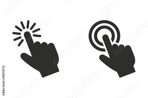 Obraz Touch - vector icon. - fototapety do salonu