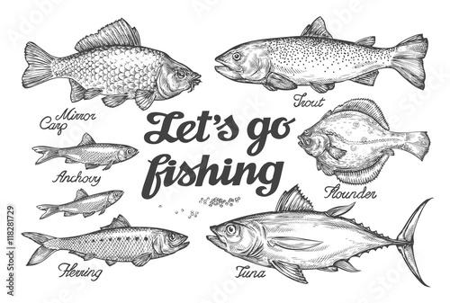 Canvas Print Fishing