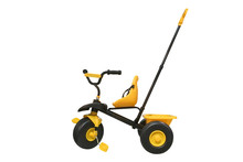 Yellow Children's Tricycle Iso...