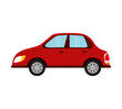 car auto vehicle transportation icon. Isolated and flat illustration.