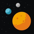 Planet illustration vector