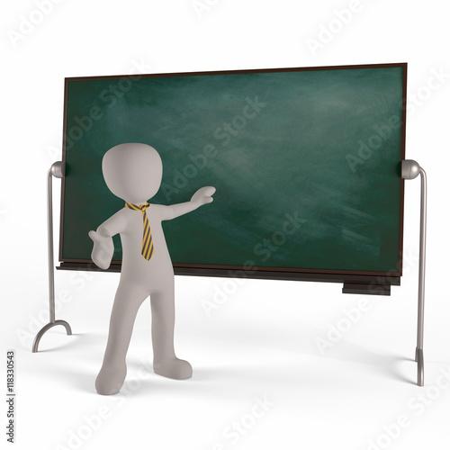 Instituteur Et Tableau D Ecole Dans Une Salle De Classe Buy This