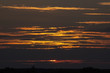 Sunset on a cloudy sky