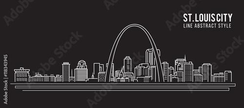 Cityscape Building Line art Ilustracja wektora projektowania - ul. Ludwik