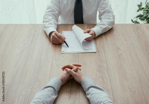 Fotografia  Job interview