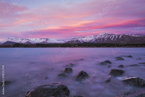Tekapo In A Shade Of Pink Canvas Print