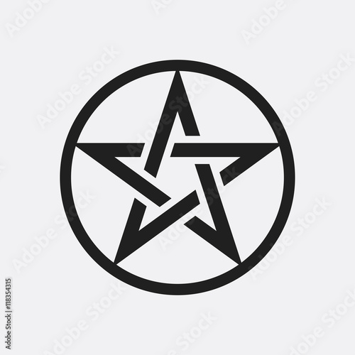 Photo  Pentagram icon illustration