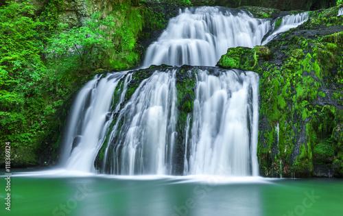 Deurstickers Watervallen Wasserfall