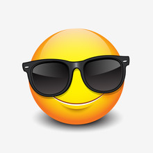 Cute Smiling Emoticon Wearing ...