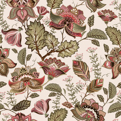 FototapetaVintage seamless pattern. Flowers background in provence style.