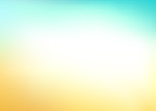 Abstract Blue Yellow Blurred V...