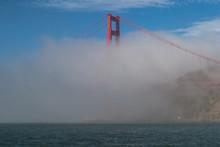 Fog Covering Golden Gate Bridge
