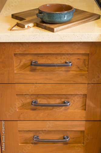 Admirable Close Up Detail Of High Quality Cherry Wood Cabinets With Home Remodeling Inspirations Basidirectenergyitoicom