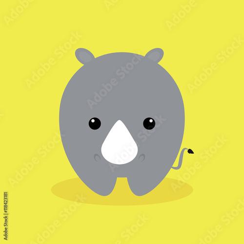 Cute Cartoon rhino Poster