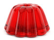 canvas print picture - Red jelly isolated on white background. 3D illustration
