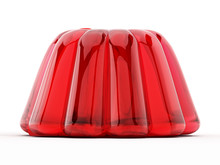 Red Jelly Isolated On White Ba...