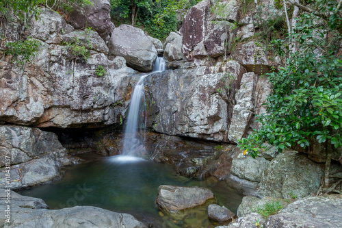 Fototapeten Forest river Rainforest Waterfall