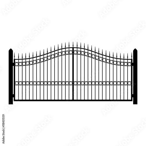 Fotografia Gate fence vector