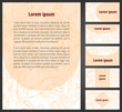 Pink marbling paper flayer template and business cards set