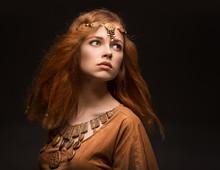 Beautiful Woman Dressed As Amazons