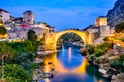 Mostar, Bosnia and Herzegovina Canvas Print