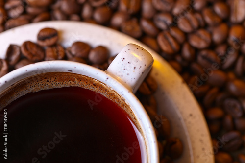 Cup of black coffee - 118439304