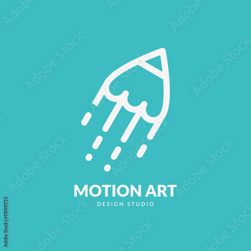 Artistic Logo Concept Line Art Illustration Applicable For Chancellery Stationary Art Studio Etc Vector Eps10 Buy This Stock Vector And Explore Similar Vectors At Adobe Stock Adobe Stock