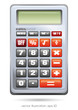 Calculator on white background, version 2, vector illustration
