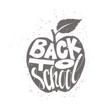 Back To School Poster With Apple