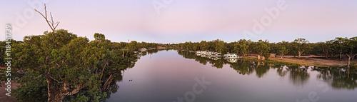 Printed kitchen splashbacks River VIC Murray wide pan pink sunrise