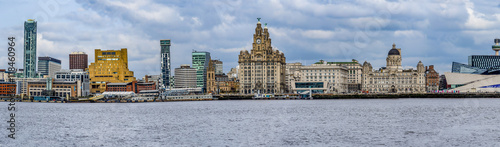 Liverpool skyline from the River Mersey, England