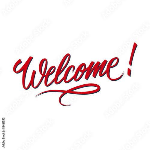 Valokuva  Welcome inscription
