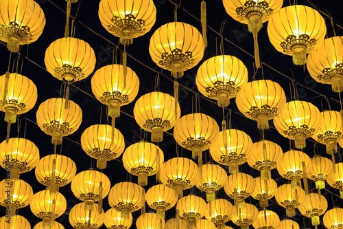 Golden Chinese lanterns