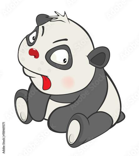 Poster de jardin Chambre bébé Illustration of a Cute Panda. Cartoon Character