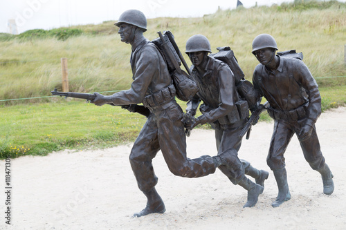 Recess Fitting Historic monument Soldiers in Utah Beach