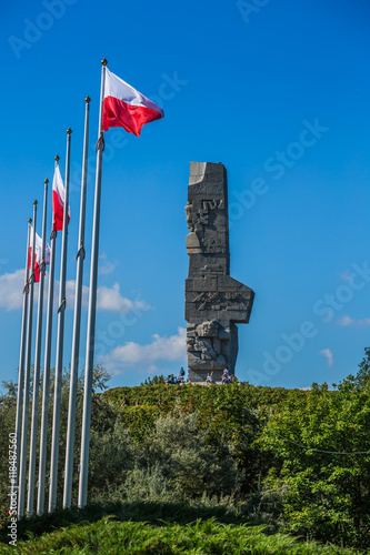 Poster  Westerplatte. Monument commemorating first battle of Second Worl