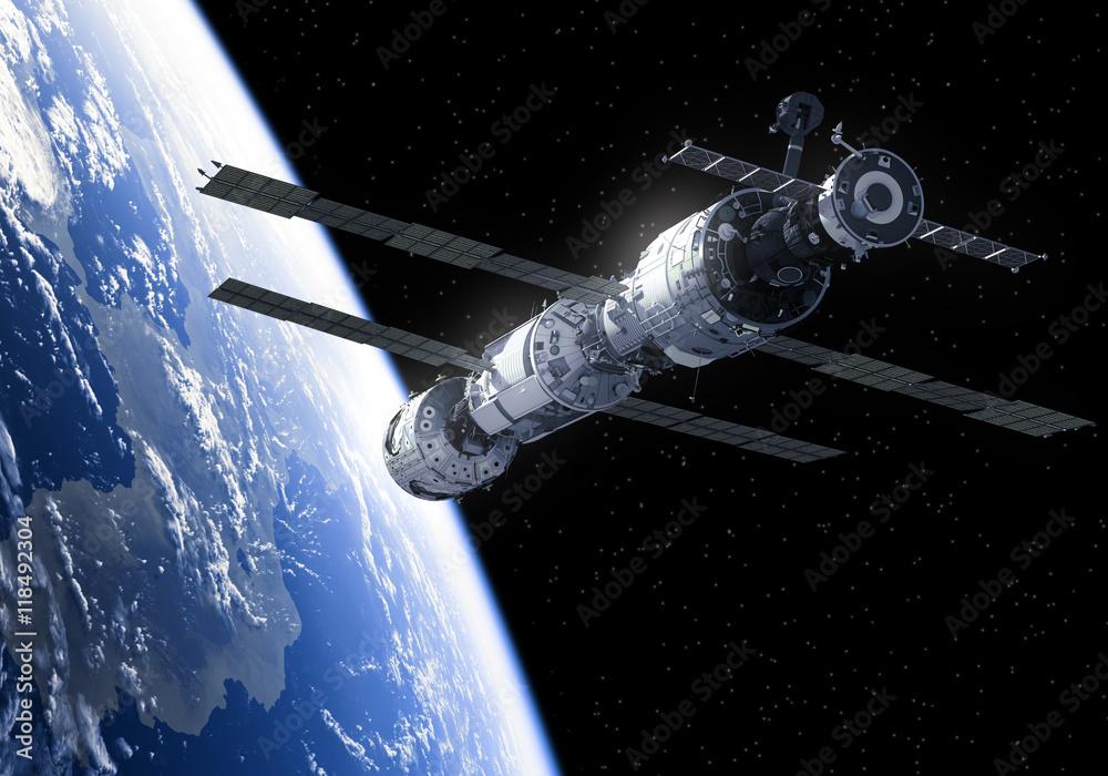 Fototapety, obrazy: Międzynarodowa Stacja Kosmiczna W Kosmosie