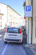 Vicenza, Italy - July, 17, 2016: parking in a center of Vicenza, Italy