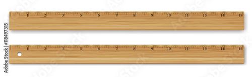 Fotografía  Vector wooden ruler