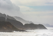 Misty And Foggy Oregon Coast C...
