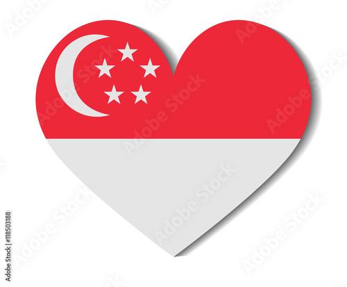 Photo  heart flag singapore