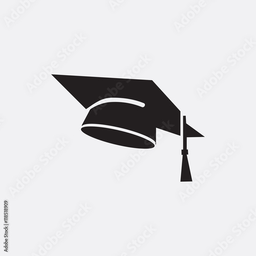 Fotografia  Graduation cap icon illustration