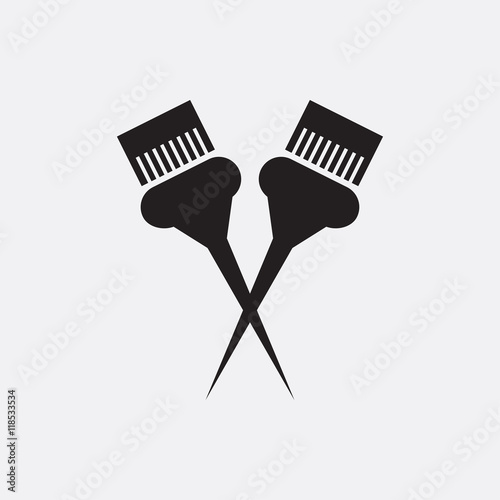 Hair Color Brush Icon Illustration Buy This Stock Vector And