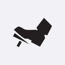 Gas Pedal Icon Illustration