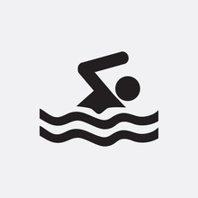 Swimming Icon Illustration