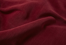 A Full Page Close Up Of A Red Couch Upholstery Fabric Texture